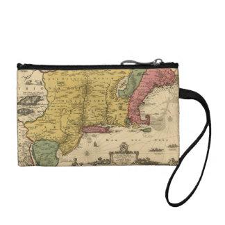 1685地図-新しいベルギーの新しい世界、ニューイングランド コインパース