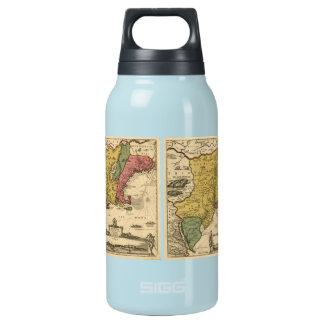1685地図-新しいベルギーの新しい世界、ニューイングランド 断熱ウォーターボトル