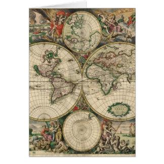 1689年からの世界地図 カード