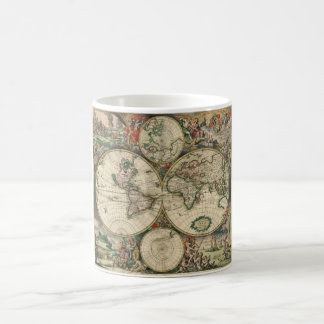 1689年からの世界地図 コーヒーマグカップ