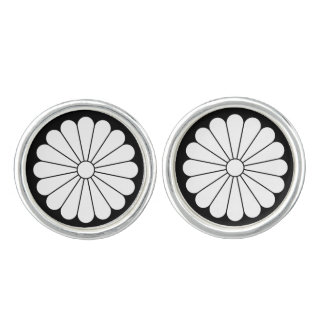 16 petaled菊 カフスボタン