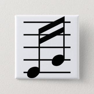 16th note 3 5.1cm 正方形バッジ
