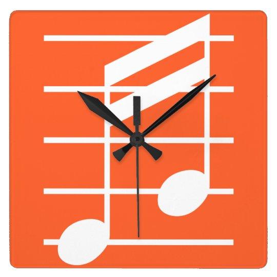 16th note 4 スクエア壁時計