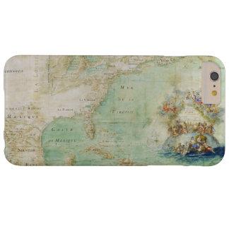 17世紀な地図クロウドBernou著アメリカ大陸 Barely There iPhone 6 Plus ケース