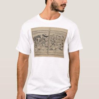 17世紀日本頃相撲 Tシャツ