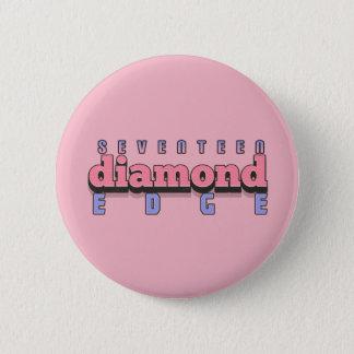 17個のダイヤモンドの端 5.7CM 丸型バッジ