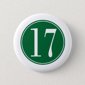 #17緑の円 5.7CM 丸型バッジ