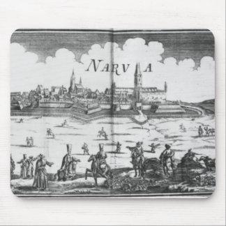 1700年にNarvaを包囲しているロシアのな軍隊 マウスパッド