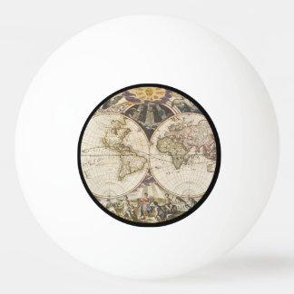 1702年世界の新しい地図 卓球ボール