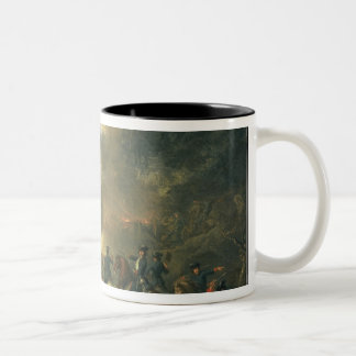 1709年1717年にポルタバの戦い ツートーンマグカップ