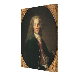 1718年後のVoltaireのポートレート キャンバスプリント