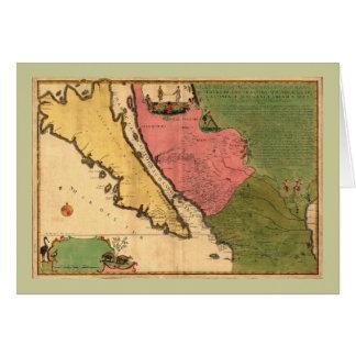 1720地図- LaのCalifornie ouのニュースキャロライン カード