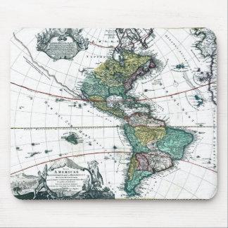 1725南および北アメリカの地図 マウスパッド