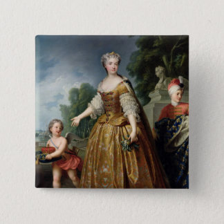 1725年後のMarie Leczinskaのポートレート 5.1cm 正方形バッジ