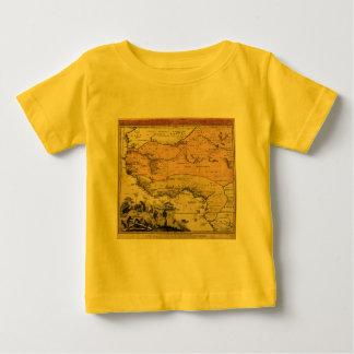 1743西アフリカの地図 ベビーTシャツ