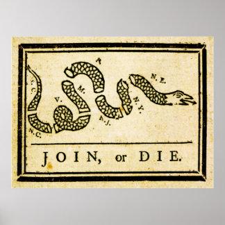 1754年結合しますか、または死んで下さい ポスター