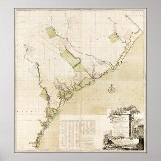 1757年のサウスカロライナおよびジョージア ポスター