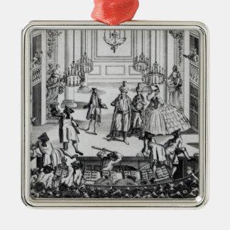 1763年にコヴェント・ガーデンの劇場の暴動 メタルオーナメント