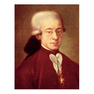 1770年後のヴォルフガング・アマデウス・モーツァルトのポートレート ポストカード