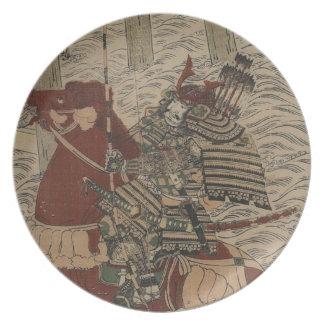1772年頃水の武士そして馬 プレート
