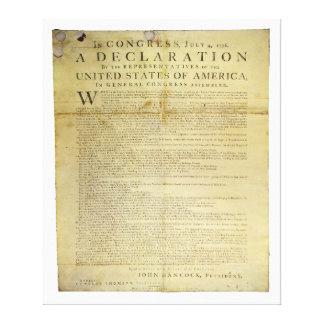 1774年Dunlapの一斉の独立宣言 キャンバスプリント