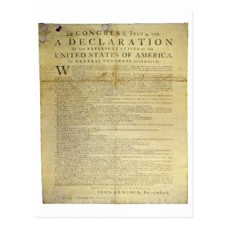 1774年Dunlapの一斉の独立宣言 ポストカード