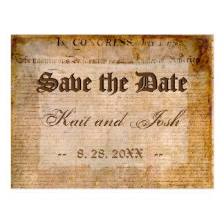 1776保存独立宣言日付 ポストカード