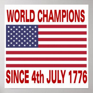 1776年以来の世界のチャンピオン ポスター