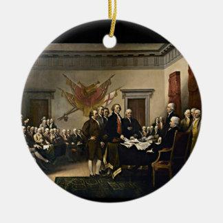 1776年独立宣言 セラミックオーナメント