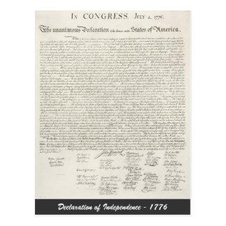 - 1776年独立宣言 ポストカード