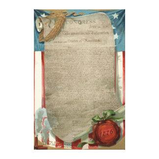1776年米国の旗の独立宣言 キャンバスプリント