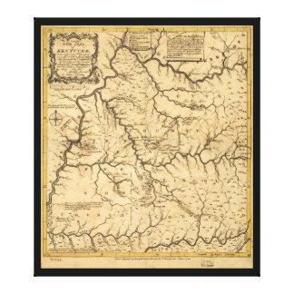 1784年からのKentucke (ケンタッキー)の地図 キャンバスプリント