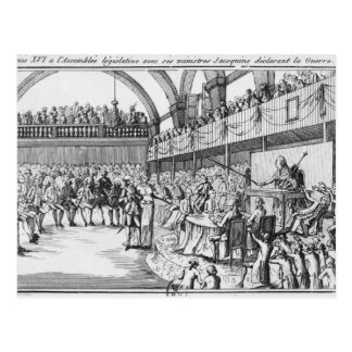 1792年4月20日のルイXVIの宣言戦争 ポストカード