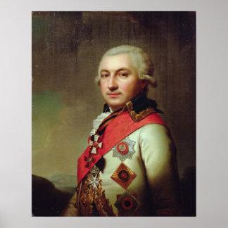 1796年後の海軍大将のホセde Ribasポートレート、 ポスター