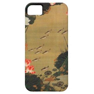 17. 蓮池遊魚図、はすが付いている若冲の池、Jakuchū Case-Mate iPhone 5 ケース
