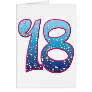 18の年齢の激賞 カード