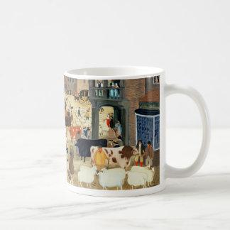 18世紀なMayfairの家畜市 コーヒーマグカップ