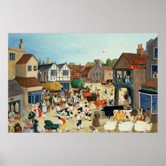 18世紀なMayfairの家畜市 ポスター