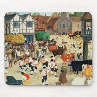 18世紀なMayfairの家畜市 マウスパッド