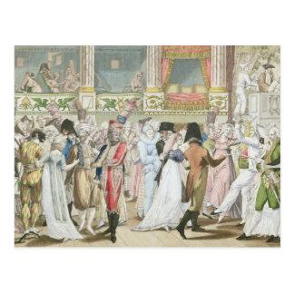 1800年後のオペラの仮装舞踏会、 ポストカード