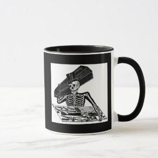 """1800'sメキシコ頃""""人々Calavera""""の マグカップ"""