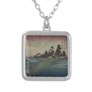 1800's日本人の芸術 シルバープレートネックレス