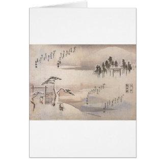 1800's頃古代日本のな絵画 カード