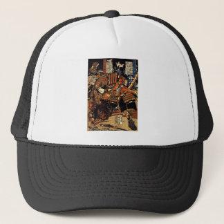 1800's頃戦闘の武士、 キャップ