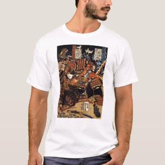 1800's頃戦闘の武士、 tシャツ
