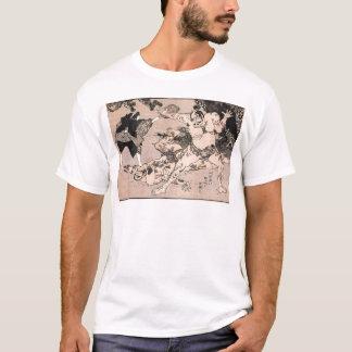 1800's頃相撲のレスリング選手。 日本 tシャツ