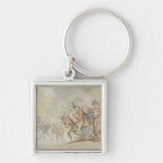 1805年3月の兵士(ペン及びインクおよびwatercolo キーホルダー