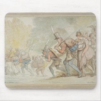 1805年3月の兵士(ペン及びインクおよびwatercolo マウスパッド