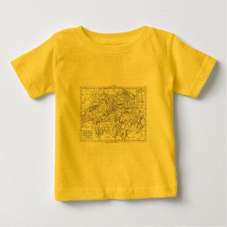 1806地図- La Suisse ベビーTシャツ