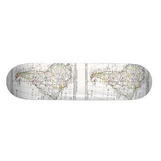 1806地図- L'Amérique Méridionale 20cm スケートボードデッキ
